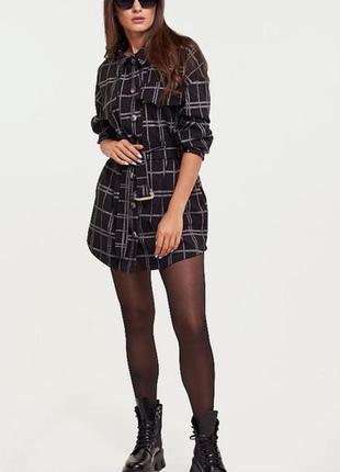 Удлинённая рубашка под пояс чёрная