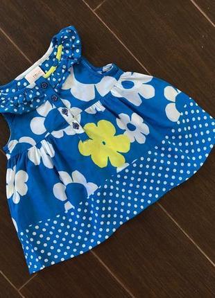 Милое сотоновое синее платье в прелестный принт