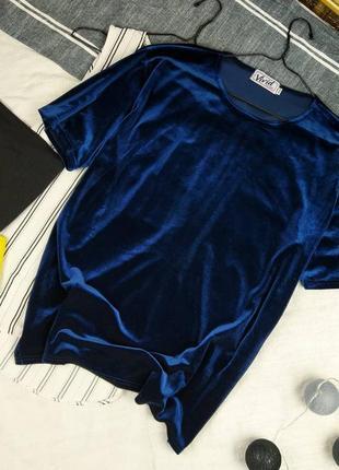 Велюровая блуза топ кофточка прямого кроя vivid