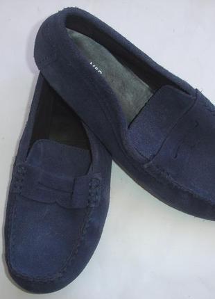 Фирменные замшевые туфли мокасины на 41 размер