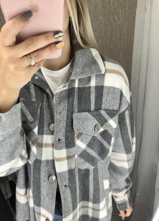 Тёплая рубашка в клетку