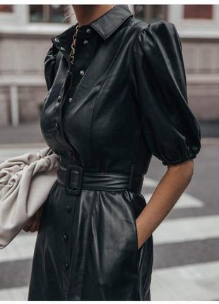 Тренд платье кожа xs-xl