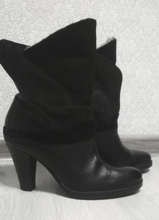 Кожаные ботинки oxmox 36-37р