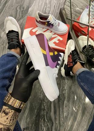🌼💜nike air force 1 low white violet💜🌼женские кроссовки