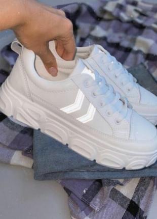 Женские белые кроссовки, кеды, кроссовки