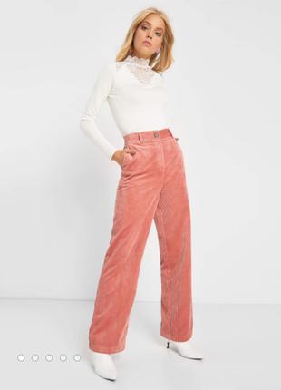 Orsay персиковые демисезонные вельветовые брюки штаны