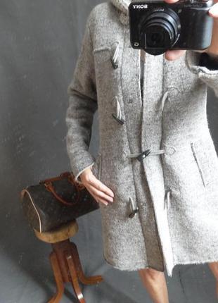 Демисезонное пальто из валяной шерсти, италия