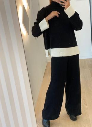 Палаццо широкие свободные брюки,на высоком поясе wallis