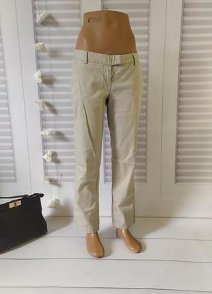 Брюки бежевые прямые классика штаны джинсы, xl