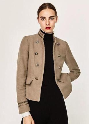 Zara basic collection пиджак куртка жакет блейзер в стиле милитари оригинал