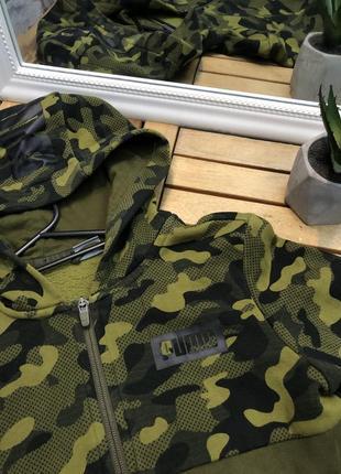 Puma оригинальная кофта от пума на замке змейке с капюшоном зип худи толстовка