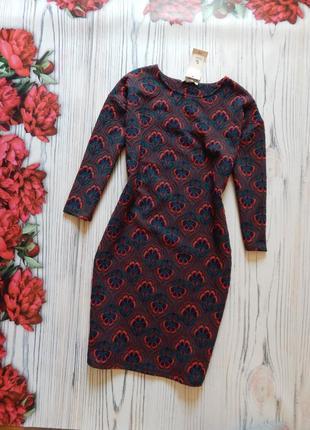 🌿элегантное, оригинальное платье с рукавами. размер m🌿.