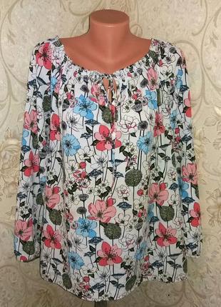 Фактурная блуза в цветы тм 'f&f' р-р 22 uk, 50 eur