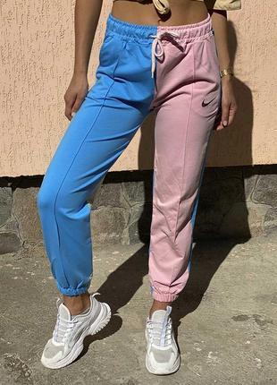 Женские штаны джогеры разноцветные