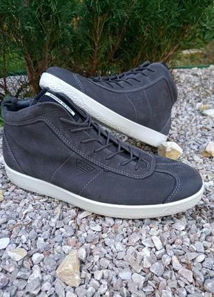 Кожание ботинки кеди оригинал от ecco soft , 45p