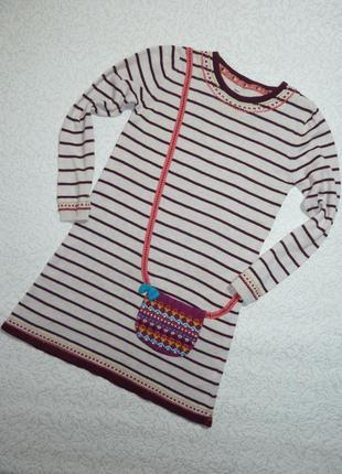 Платье вязаное m&s на 6-7 лет
