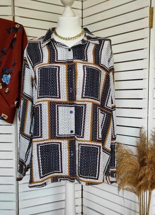 Фирменная шелковая рубашка gerard darel