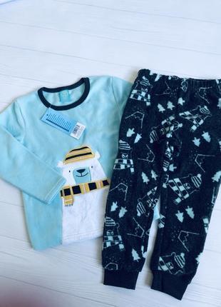 Флисовая пижама или домашний костюм для мальчика