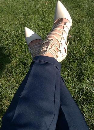 Туфельки со шнуровкой ego