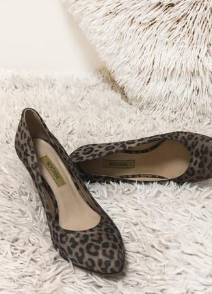 Туфли лодочки леопард кожа bocage франция 38