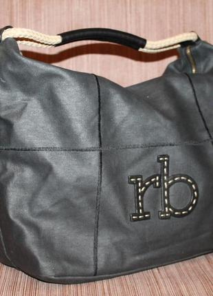 Стильная дизайнерская сумка roccobarocco кожа и канвас
