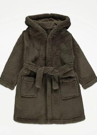 Плюшевый халат с капюшоном для ребенка george (великобритания)