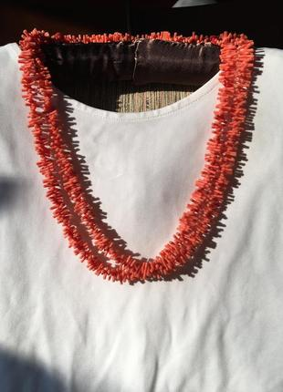 """Бижутерия. длинное ожерелье из """"кораллов"""""""