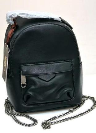 Молодежный модный рюкзак подросток девочка черный melas