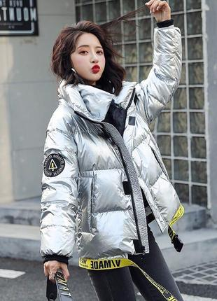 Шикарная тёплая куртка -стиль oversized. очень крутая