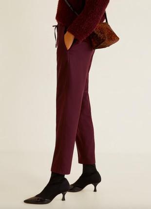 Новые бордовые актуальные брюки джоггеры