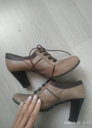 Кожаные ботинки туфли на шнурках #marco 38 p.