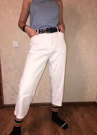 Кюлоты штаны белоснежные