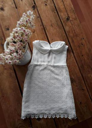 Нежная белоснежная кружевная блузка topshop