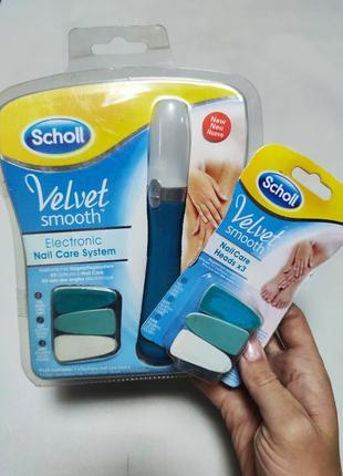 Электрическая пилка для ногтей velvet smooth nail care + запас насадки-набор