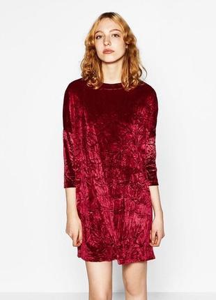 Красивое😍бархатное велюровое платье zara
