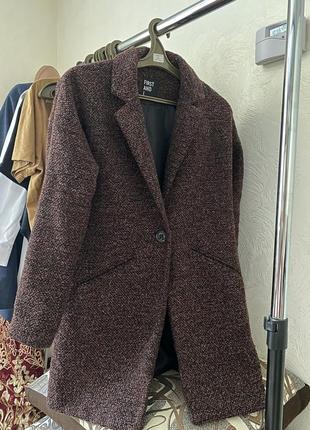 Пальто демисезонное фактурное стильное идеал