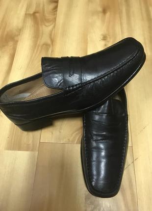 Мужские мокасины, туфли, claudio conti кожа, кожаные, размер 43,5