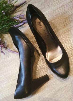 Туфли натуральная кожа marco tozzi большой размер