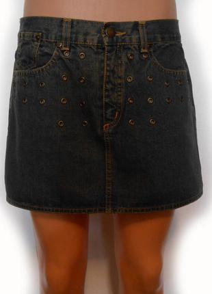 Олдскульная джинсовая мини-юбка cамая последняя цена!
