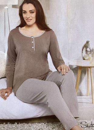 Женская пижама домашний костюм германия коллекция для полненьких
