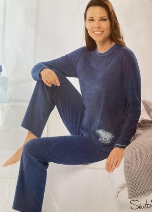 Натуральная махровая пижама домашний костюм германия