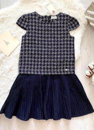 Нарядное подростковое школьное платье с плиссированной юбкой для девочки ovs италия