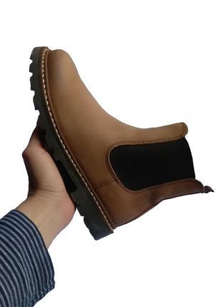 Детские кожаные демисезонные ботинки челси next
