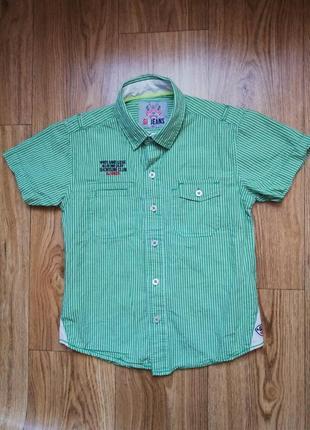 Рубашка рубашечка тенниска шведка с коротким рукавом на мальчика 6-7 лет