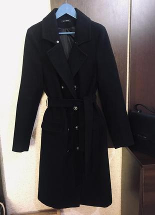Пальто демисезонное чёрное s
