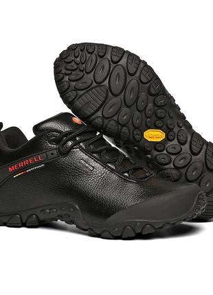 Мужские кожаные ботинки кроссовки merrell осень-зима