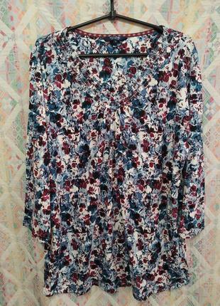 Блуза принт брльшой размер 20 22