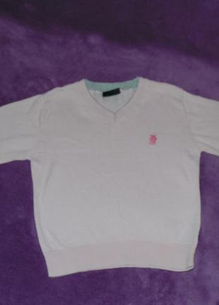 Нежно-розовый легкий джемпер, свитер next. 9-12м,80см.
