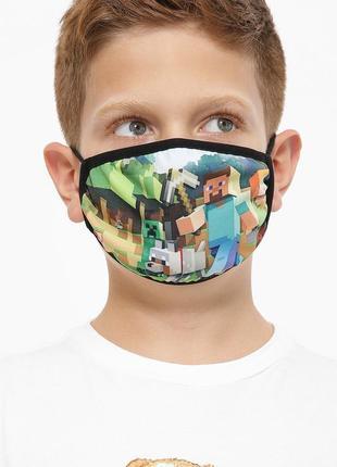 """Защитная маска с принтом """"minecraft"""""""