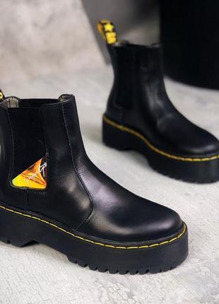 Ботинки броги кожа